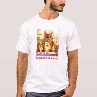 Camiseta T-shirt da igreja do gato do teclado