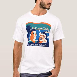Camiseta T-shirt da ilha de Catalina do papai noel do