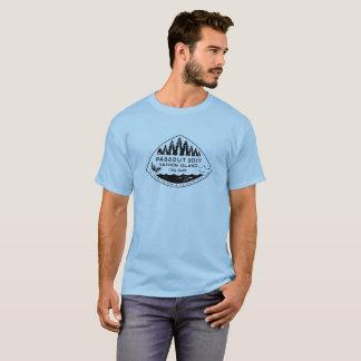 Camiseta T-shirt da ilha de Passout Vashon, de tinta preta