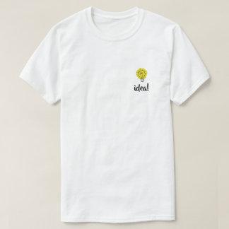 Camiseta T-shirt da ilustração da ideia da ampola