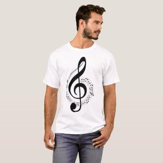 Camiseta T-shirt da ilustração das notas musicais