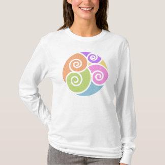 Camiseta T-shirt da ioga do redemoinho do OM