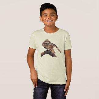 Camiseta T-shirt da juventude da arte do pássaro da coruja