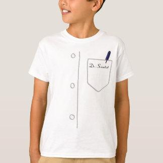 Camiseta T-shirt da juventude do casaco do laboratório -