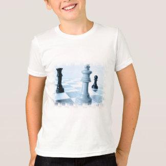 Camiseta T-shirt da juventude do design da xadrez