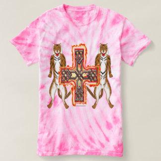 Camiseta T-shirt da Laço-Tintura das senhoras da cruz do