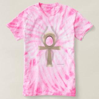Camiseta T-shirt da Laço-Tintura das senhoras de Ankh da