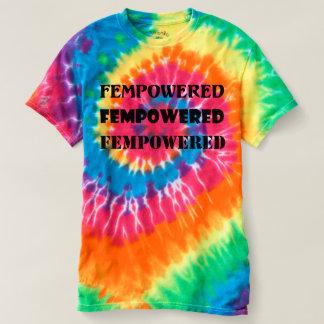 Camiseta T-shirt da Laço-Tintura de Fempowered