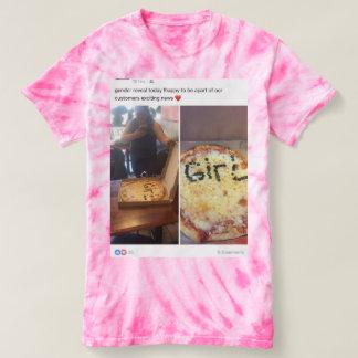Camiseta T-shirt da Laço-Tintura de TNIT (o género revela)