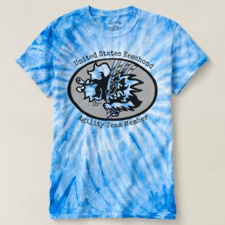 Camiseta T-shirt da Laço-Tintura do ciclone dos homens
