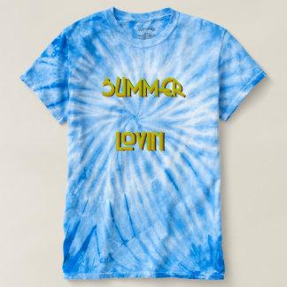 Camiseta T-shirt da Laço-Tintura do ciclone dos homens de