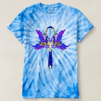 Camiseta T-shirt da Laço-Tintura dos homens de Ankh Phoenix