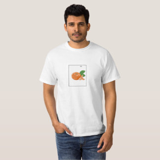 Camiseta T-shirt da laranja da arte do pixel