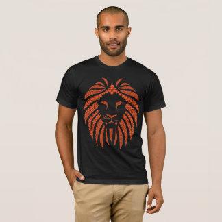 Camiseta T-shirt da laranja da bolha do leão