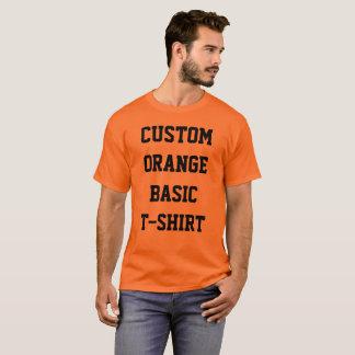 Camiseta T-SHIRT da LARANJA do BASIC dos homens
