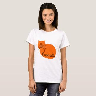 Camiseta T-shirt da laranja do gato dos desenhos animados