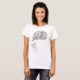 Camiseta T-shirt da lata de pulverizador do Doodle