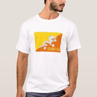 Camiseta T-shirt da lembrança da bandeira de Bhutan