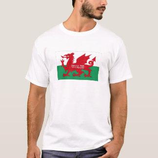 Camiseta T-shirt da lembrança da bandeira de Wales Galês