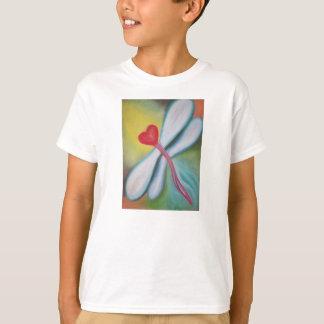 Camiseta T-shirt da libélula do coração