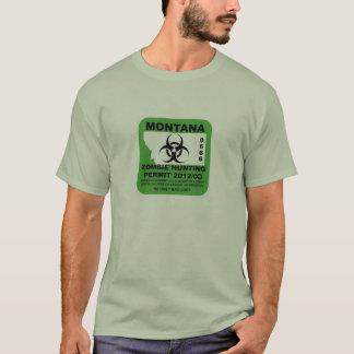 Camiseta T-shirt da licença do zombi de Montana