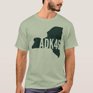 Camiseta T-shirt da lista dos picos altos de Adirondack