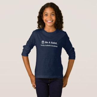 Camiseta T-shirt da Longo-Luva da menina: Seja um santo