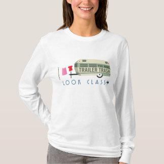Camiseta T-shirt da Longo-Luva das mulheres do lixo do