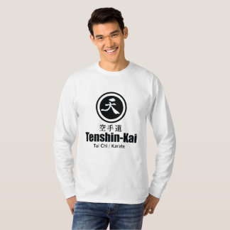 Camiseta T-shirt da longo-luva do karaté de Tenshin-Kai
