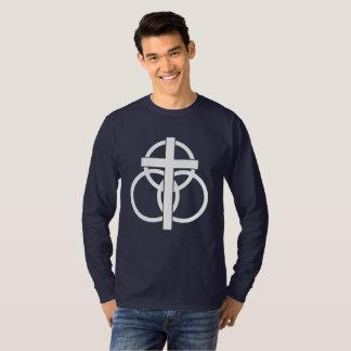 Camiseta T-shirt da Longo-luva dos homens: Logotipo moderno