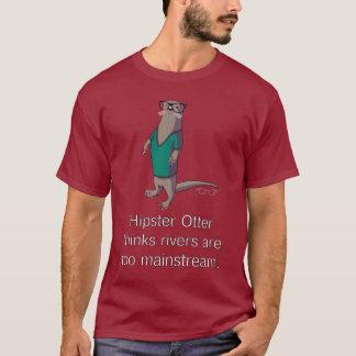 Camiseta T-shirt da lontra do hipster