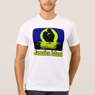 Camiseta T-shirt da lua de mel do por do sol da ilha de