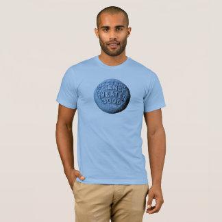 Camiseta T-shirt da lua de MST3K (azuis bebés)