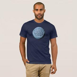 Camiseta T-shirt da lua de MST3K (azuis marinhos)