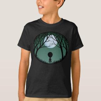 Camiseta T-shirt da lua do Extraterrestrial W. do miúdo