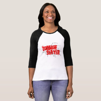 Camiseta T-shirt da luva do assassino 3/4 do zombi,