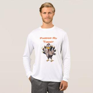 Camiseta T-shirt da luva do Esporte-TekLong dos homens de