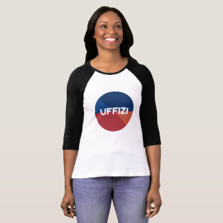 Camiseta T-shirt da luva do logotipo de Uffizi