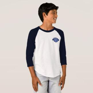 Camiseta T-shirt da luva do miúdo 3/4 do prodígio