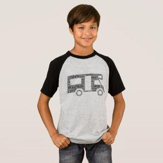 Camiseta T-shirt da luva do Short do campista dos miúdos