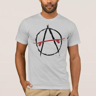 Camiseta t-shirt da luz da anarquia do skate