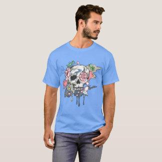 Camiseta T-shirt da luz do crânio do jardim