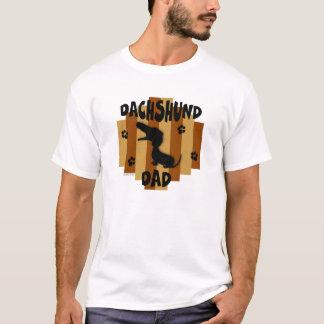 Camiseta T-shirt da luz do pai do Dachshund