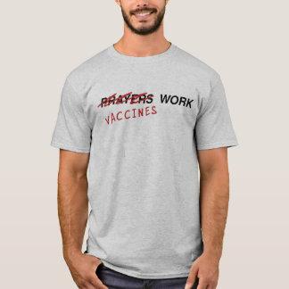 Camiseta T-shirt da luz do trabalho das vacinas