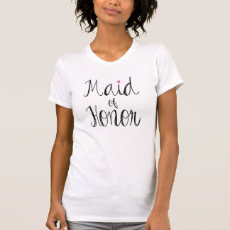 Camiseta T-shirt da madrinha de casamento do roteiro do