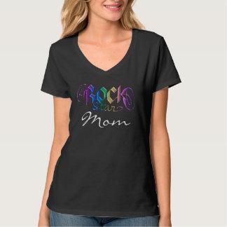 Camiseta T-shirt da mamã de Rockstar do arco-íris