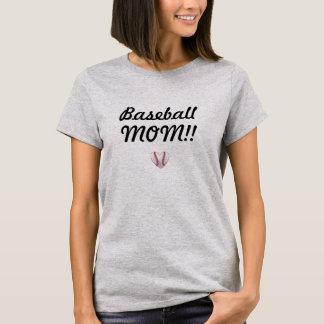Camiseta T-shirt da MAMÃ do basebol