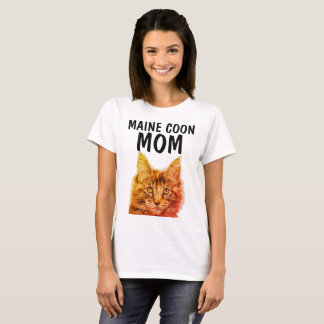 Camiseta T-shirt da MAMÃ do CAT de RACUM de MAINE