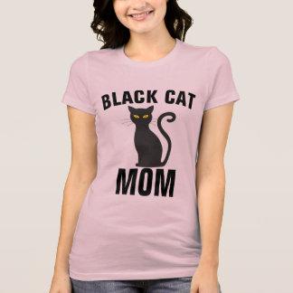 Camiseta T-shirt da MAMÃ do CAT PRETO