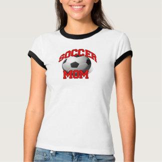 Camiseta T-shirt da mamã do futebol, preto e branco